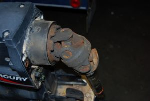 Rusted drive shaft u-joint.